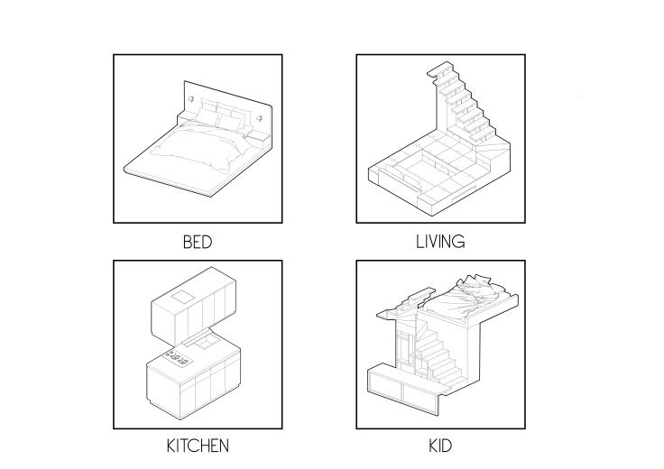 5. Plug-in furniture - 3500mm House