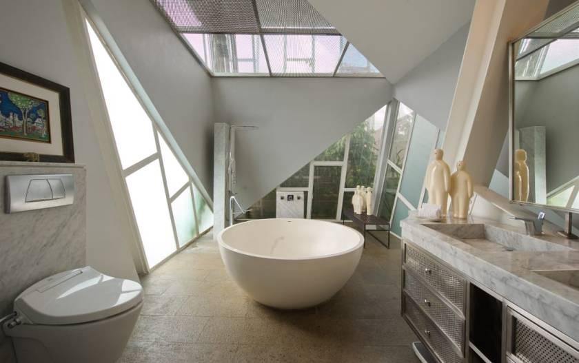 HUNIAN DAN GALERI DI RUMAH MIRING KARYA BUDI PRADONO ARCHITECTS DSGNTALK ARSITEKTUR ARCHITECTURE MODERN DESIGN HOME HOUSE INTERIOR DECOR
