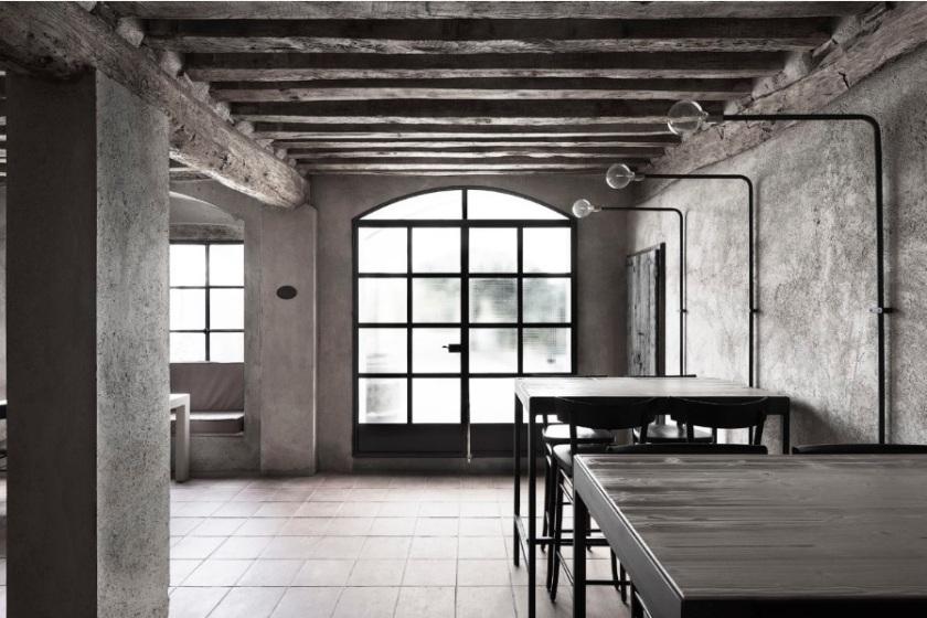 INSPIRASI INTERIOR GAYA NATURAL STUDIO MABB PADA RESTORAN LA GANEA DSGNTALK DESAIN ITALIA ITALY INDUSTRIAL VINTAGE DESIGN