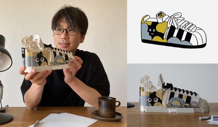 BERKREASI DENGAN LEGO SERI ADIDAS ORIGINAL SUPERSTAR SEPATU SNEAKER COLLECTOR MODEL DSGNTALK DESIGN CREATIVITY