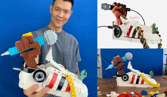 BERKREASI DENGAN LEGO SERI ADIDAS ORIGINAL SUPERSTAR SEPATU SNEAKER COLLECTOR MODEL DSGNTALK DESIGN CREATIVITY Tom_Yoo