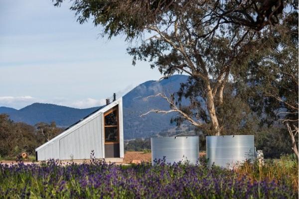 KABIN SEGITIGA DI TENGAH LADANG LAVENDER AUSTRALIA ARCHITECTURE INTERIOR DESIGN VILLA HOLIDAY HOUSE SUSTAINABLE DSGNTALK 1
